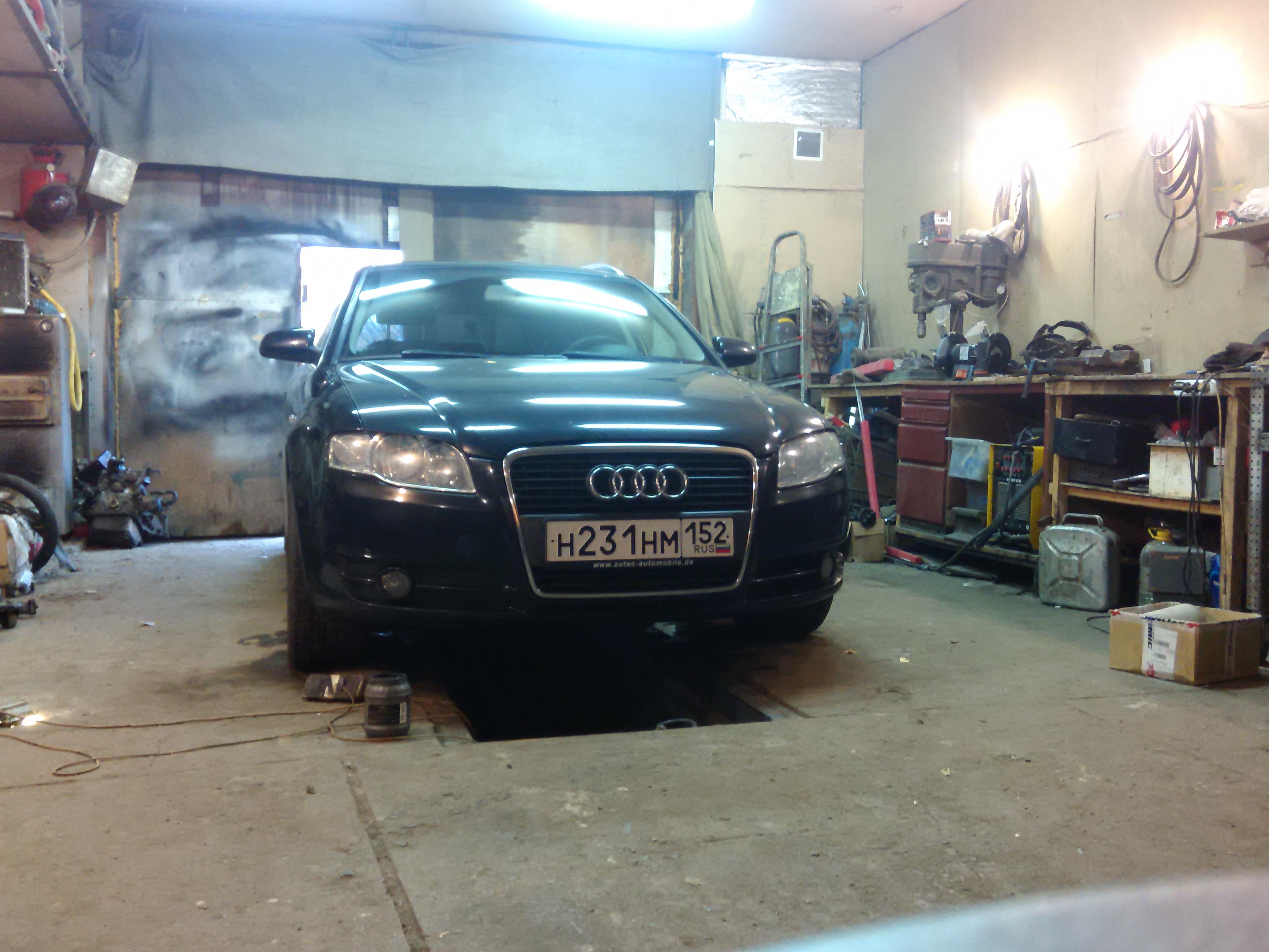 Удаление сажевого фильтра на Audi A4