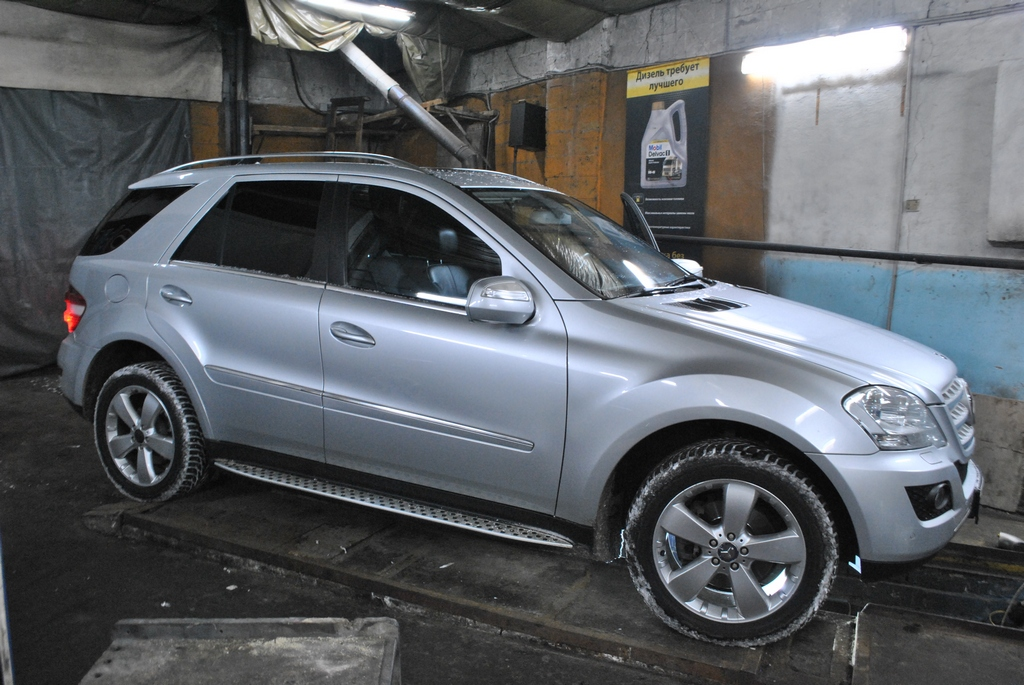 Mercedes ML320 3.0CDI Чип тюнинг и удаление сажевого фильтра