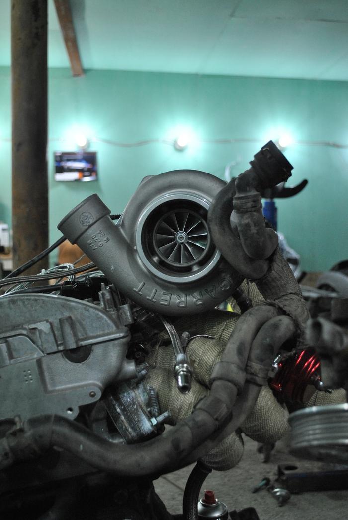 VW Golf4 установка турбины Garrett GTX3582