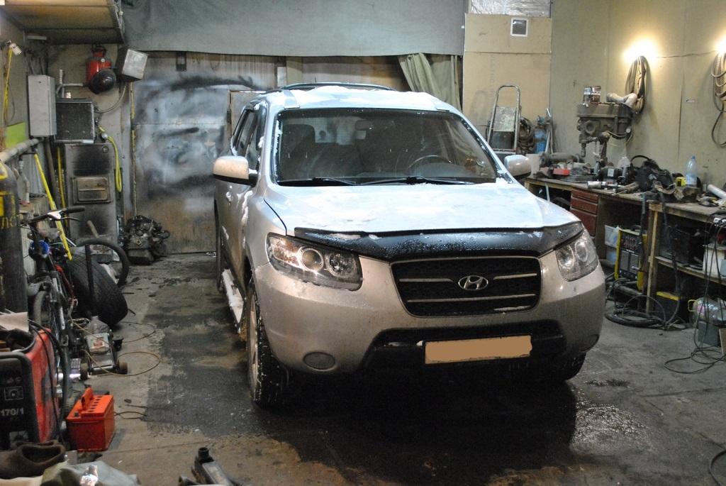 Hyundai SantaFe 2.2л Удаление сажевого фильтра