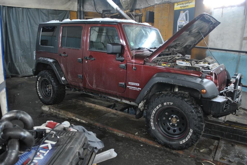 Jeep Wrangler 2.8 177лс Удаление сажевого фильтра