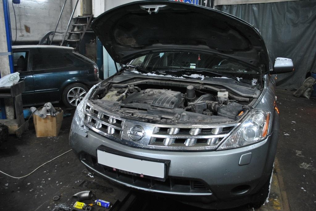 Nissan Murano 3.5л Чип тюнинг и удаление катализаторов.