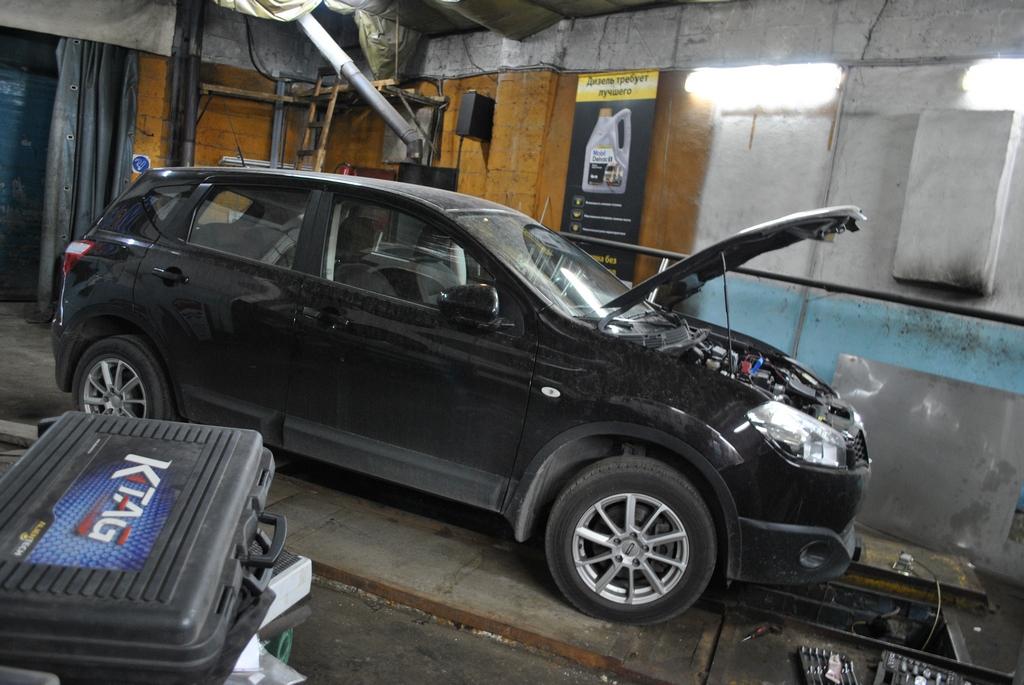 Nissan Qashqai 1.5dci Удаление сажевого фильтра и EGR