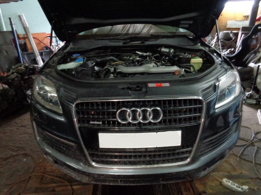 Audi Q7 3.0 tdi Чип тюнинг, удаление сажевого, егр и заслонок.