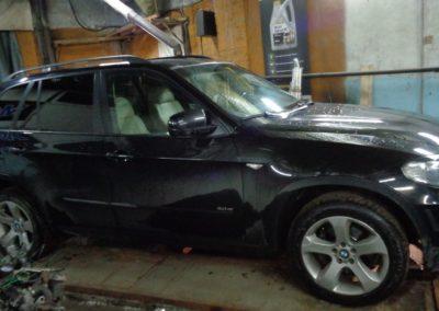 BMW X5 E70 удаление катализаторов