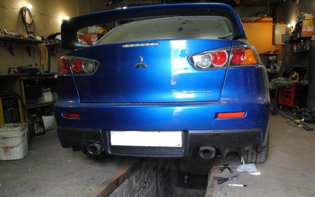 Mitsubishi EvoX Выхлоп из нержавеющей стали