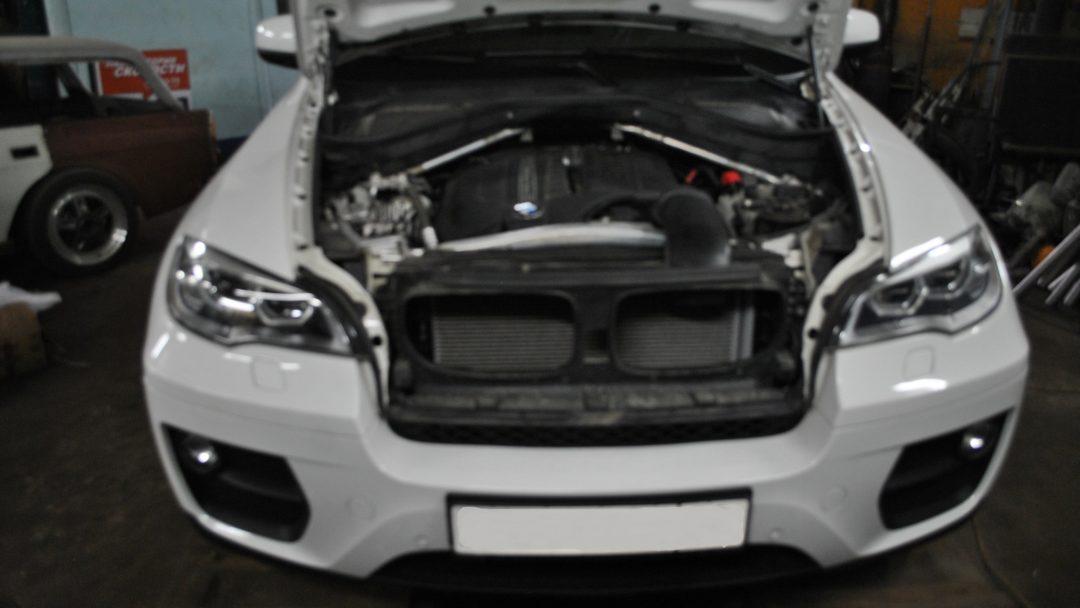 BMW X6 35i Чип тюнинг и установка даунпайпа