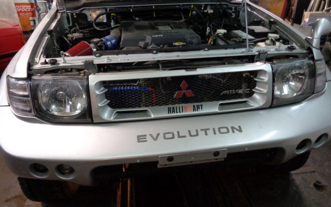 Mitsubishi Pajero EVO 1UZ-FE выхлоп из нержавеющей стали