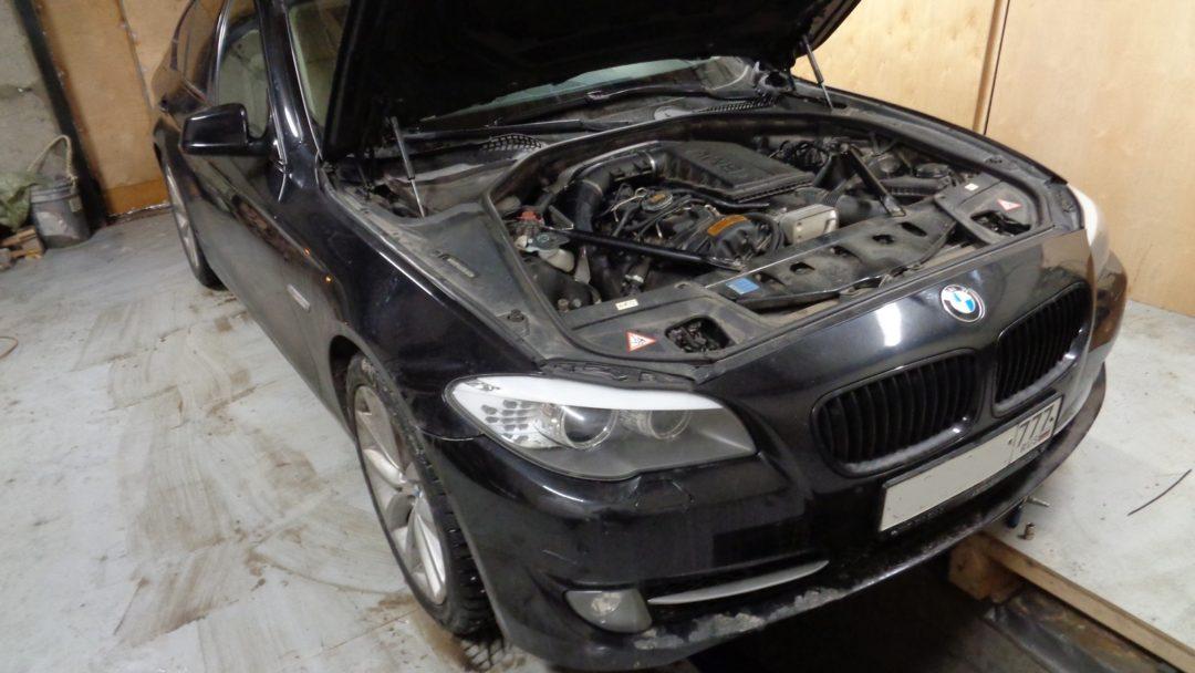 BMW F10 535 Чип тюнинг и сварка даунпайпа