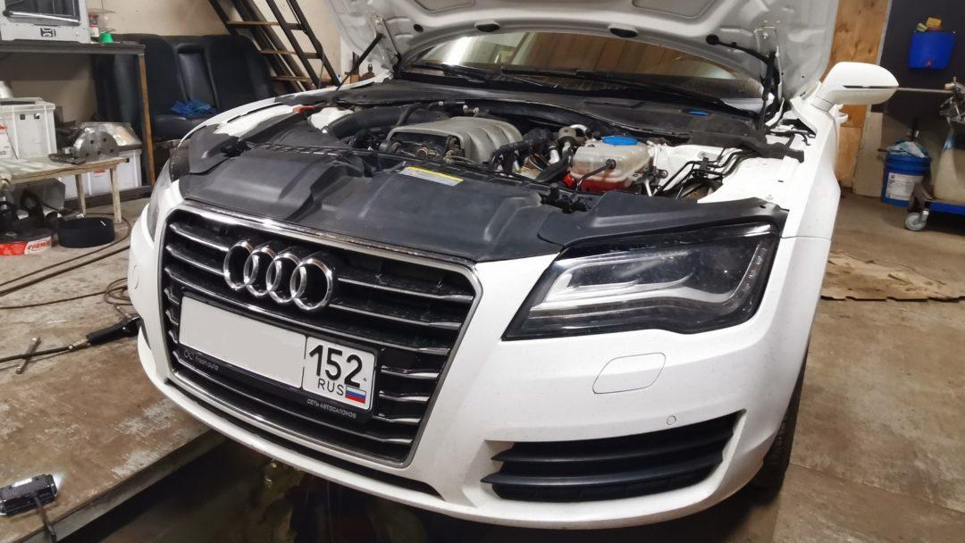 Audi A7 удаление катализаторов и системы вторичного возжуха