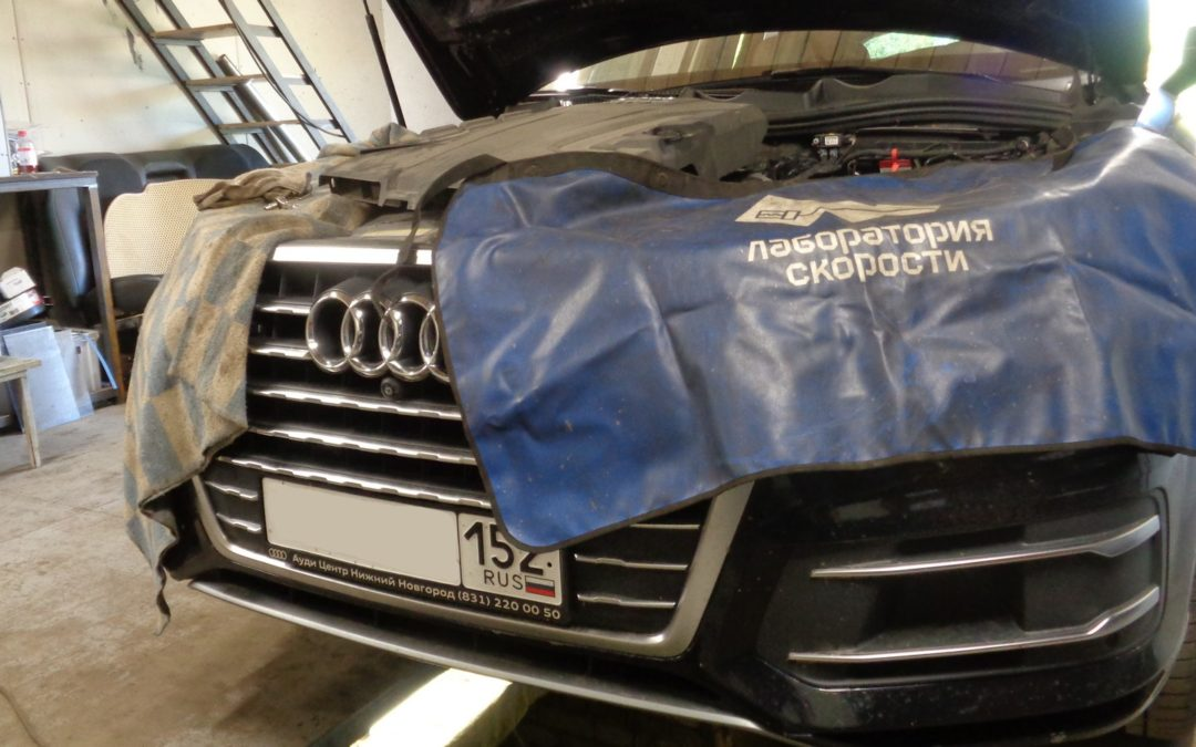 Audi Q7 2015 Удаление сажевого фильтра и EGR