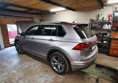 VW Tiguan тюнинг выхлопа, насадки 80мм